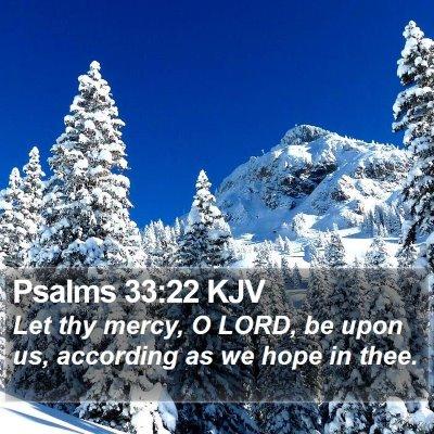 Psalms 33:22 KJV Bible Verse Image