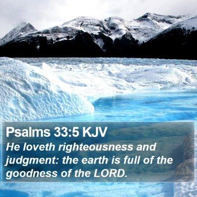 Psalms 33:5 KJV Bible Verse Image