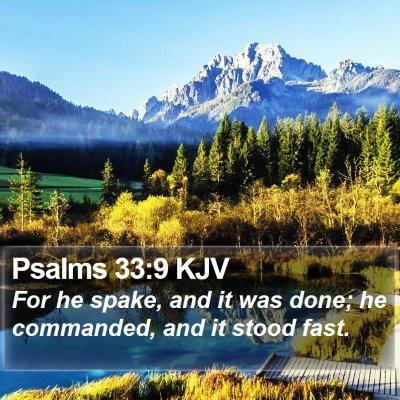 Psalms 33:9 KJV Bible Verse Image