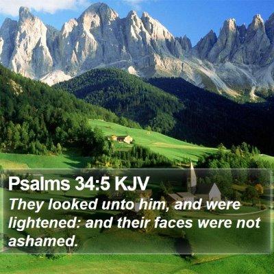 Psalms 34:5 KJV Bible Verse Image
