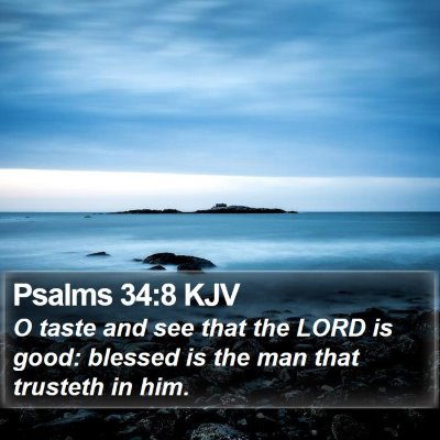 Psalms 34:8 KJV Bible Verse Image