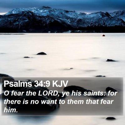 Psalms 34:9 KJV Bible Verse Image