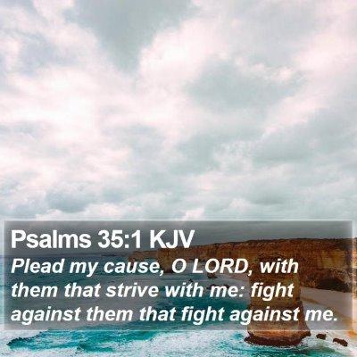 Psalms 35:1 KJV Bible Verse Image