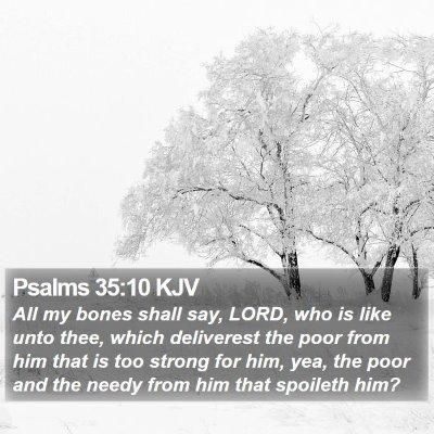 Psalms 35:10 KJV Bible Verse Image