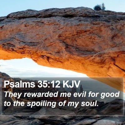 Psalms 35:12 KJV Bible Verse Image