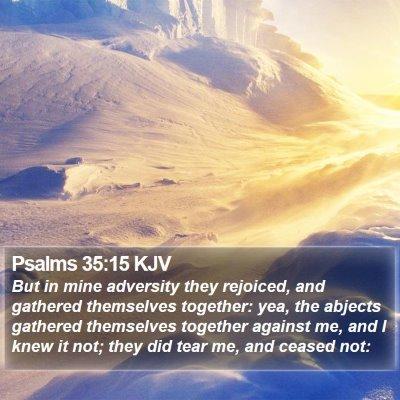 Psalms 35:15 KJV Bible Verse Image