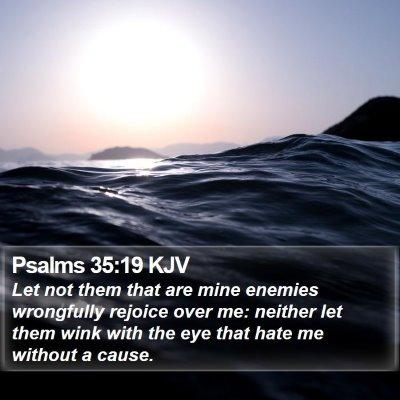 Psalms 35:19 KJV Bible Verse Image