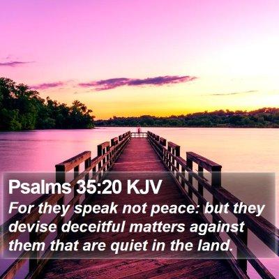 Psalms 35:20 KJV Bible Verse Image