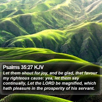 Psalms 35:27 KJV Bible Verse Image