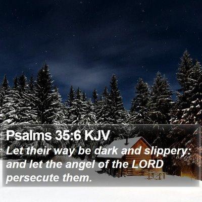 Psalms 35:6 KJV Bible Verse Image