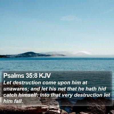 Psalms 35:8 KJV Bible Verse Image