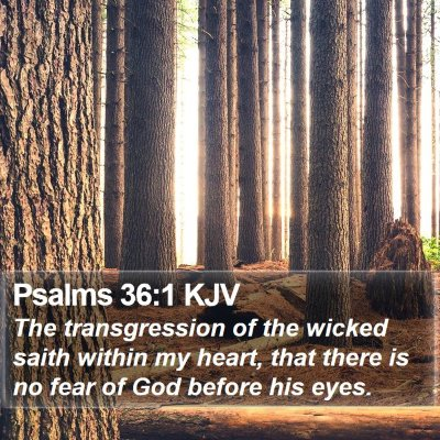 Psalms 36:1 KJV Bible Verse Image