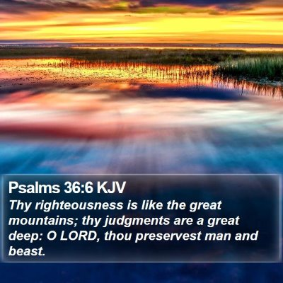 Psalms 36:6 KJV Bible Verse Image