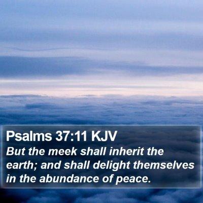 Psalms 37:11 KJV Bible Verse Image