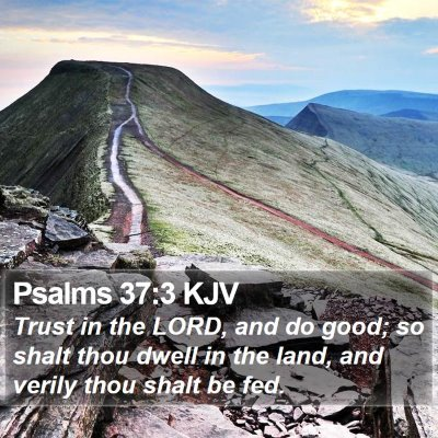 Psalms 37:3 KJV Bible Verse Image