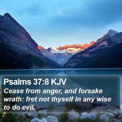 Psalms 37:8 KJV Bible Verse Image