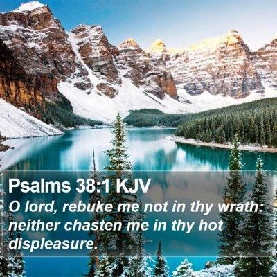 Psalms 38:1 KJV Bible Verse Image