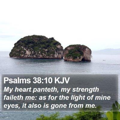 Psalms 38:10 KJV Bible Verse Image