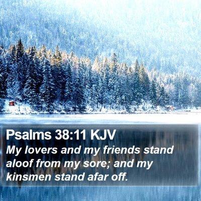 Psalms 38:11 KJV Bible Verse Image