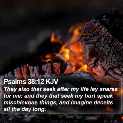 Psalms 38:12 KJV Bible Verse Image