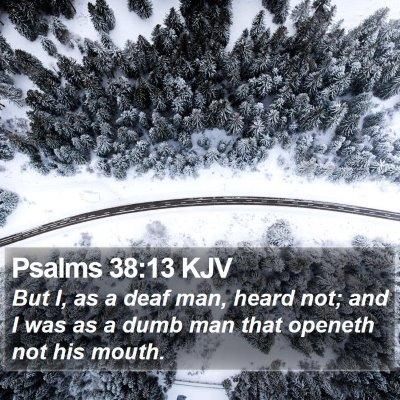 Psalms 38:13 KJV Bible Verse Image