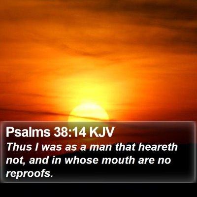 Psalms 38:14 KJV Bible Verse Image