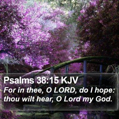 Psalms 38:15 KJV Bible Verse Image
