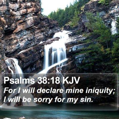 Psalms 38:18 KJV Bible Verse Image