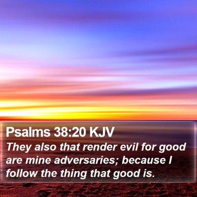Psalms 38:20 KJV Bible Verse Image