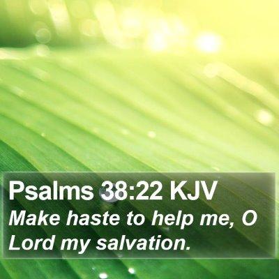 Psalms 38:22 KJV Bible Verse Image