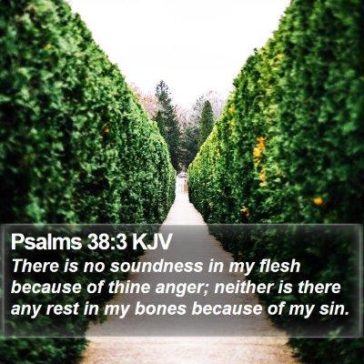 Psalms 38:3 KJV Bible Verse Image