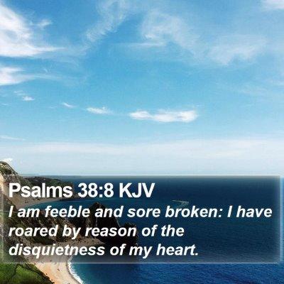 Psalms 38:8 KJV Bible Verse Image