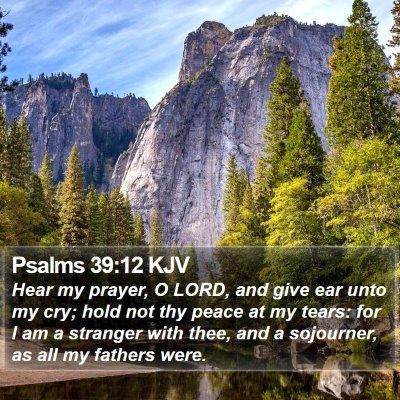 Psalms 39:12 KJV Bible Verse Image