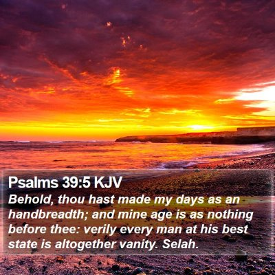 Psalms 39:5 KJV Bible Verse Image
