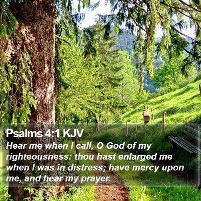Psalms 4:1 KJV Bible Verse Image