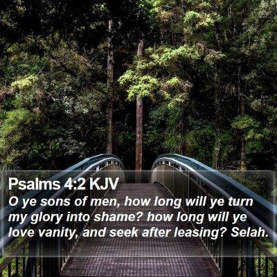 Psalms 4:2 KJV Bible Verse Image