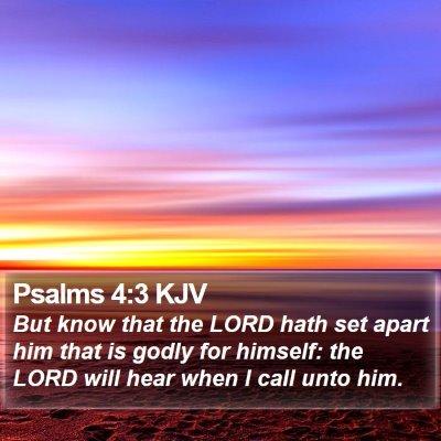 Psalms 4:3 KJV Bible Verse Image