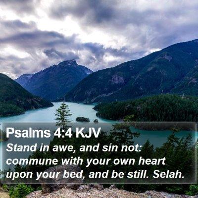 Psalms 4:4 KJV Bible Verse Image