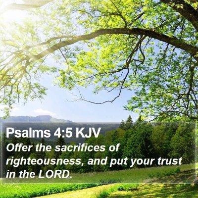 Psalms 4:5 KJV Bible Verse Image