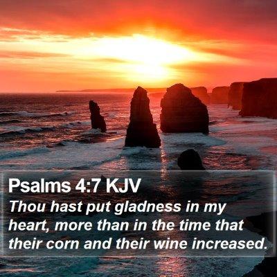 Psalms 4:7 KJV Bible Verse Image