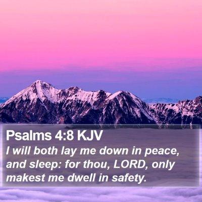Psalms 4:8 KJV Bible Verse Image