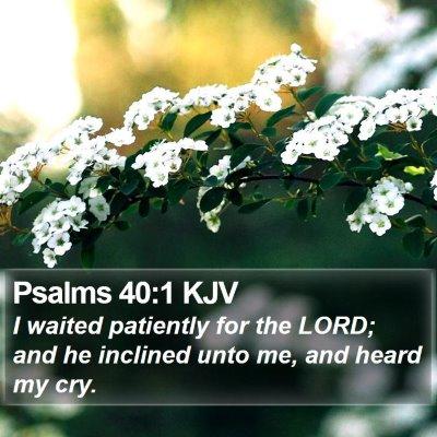 Psalms 40:1 KJV Bible Verse Image
