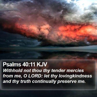 Psalms 40:11 KJV Bible Verse Image