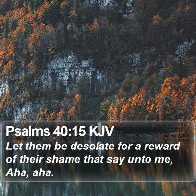 Psalms 40:15 KJV Bible Verse Image
