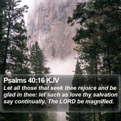 Psalms 40:16 KJV Bible Verse Image