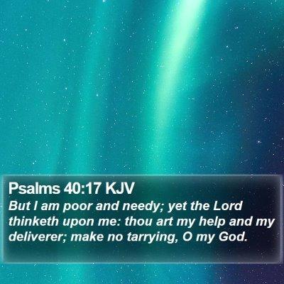 Psalms 40:17 KJV Bible Verse Image