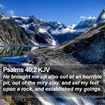Psalms 40:2 KJV Bible Verse Image