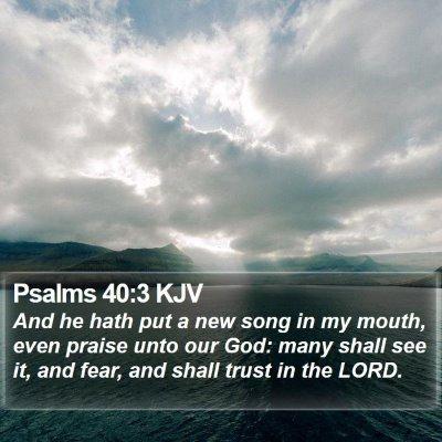 Psalms 40:3 KJV Bible Verse Image