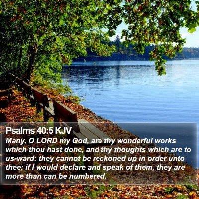 Psalms 40:5 KJV Bible Verse Image