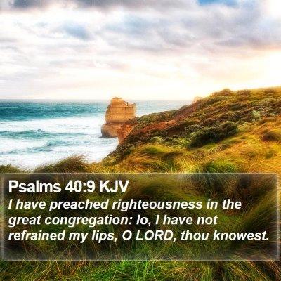 Psalms 40:9 KJV Bible Verse Image